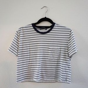 striped Brandy Melville cropped tee